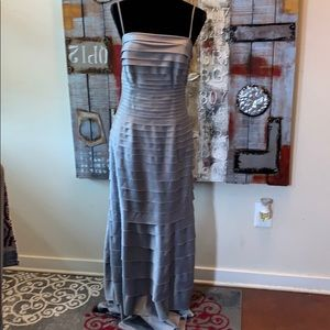 Beautiful gray evening gown purchased at Macys